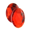 Acrylic 18x13mm Oval Facet Bright Red